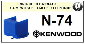 KENWOOD N74 N-74 <br>Pointe Diamant <b>Elliptique</b> (stylus)<small> 2016-01</small>
