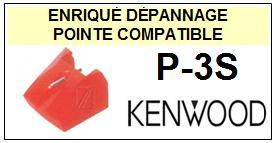 KENWOOD P3S P-3S <br>Pointe sphérique pour tourne-disques (stylus)<small> 2015-12</small>