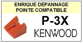 KENWOOD<br> P3X P-3X Pointe (stylus) sphérique pour tourne-disques<small> 2015-09</small>