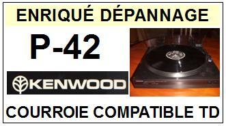 KENWOOD-P42 P-42-COURROIES-ET-KITS-COURROIES-COMPATIBLES