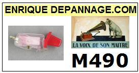 LA VOIX DE SON MAITRE VDM<br> M490 Cellule MONO diamant sphérique pour tourne-disques<SMALL> 2015-04</small>
