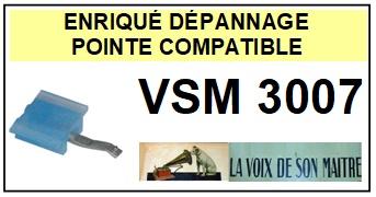 LA VOIX DE SON MAITRE<br> VSM3007 Pointe (stylus) sphérique pour tourne-disques<SMALL> 2015-09</SMALL>