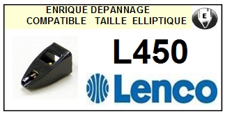 LENCO L450 <bR>Pointe diamant elliptique pour tourne-disques (stylus)<SMALL> 2015-11</small>