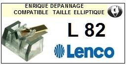 LENCO L82 <br> Pointe elliptique pour tourne-disques (<b>elliptical stylus</b>)<small> 2016-01</small>