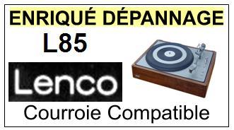 LENCO L85 <br>Courroie d\'entrainement pour Tourne-disques (<b>flat belt</b>)<small> 2016-01</small>