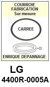 LG 4400R0005A 4400R-0005A <BR>Courroie carrée référence lg (<B>square belt</B> manufacturer number)<small> 2017 OCTOBRE</small>