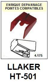 LLAKER HT501 HT-501 <br>Pointe diamant sphérique pour tourne-disques (stylus 1°montage)<small> 2015-11</small>