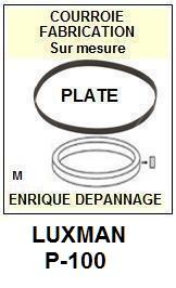 LUXMAN P100 P-100 <br>Courroie d'entrainement pour tourne-disques (<b>flat belt</b>)<small> 2016-01</small>
