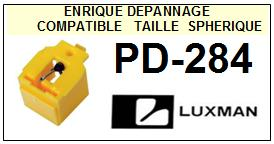LUXMAN <br>Platine PD284 PD-284 Pointe (stylus) diamant sphérique <BR><small>se 2015-08</small>