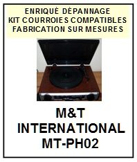 MT INTERNATIONAL-MTPH02 MT-PH02-COURROIES-ET-KITS-COURROIES-COMPATIBLES