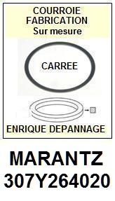 MARANTZ<br> 307Y264020  courroie (square belt) référence marantz <br><small> 2015-08</small>