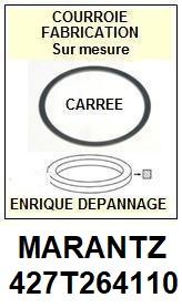MARANTZ 427T264110  <BR>Courroie carrée référence marantz (<B>square belt</B> manufacturer number)<small> 2017 DECEMBRE</small>