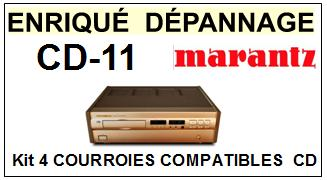 MARANTZ-CD11 CD-11-COURROIES-ET-KITS-COURROIES-COMPATIBLES
