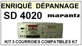 MARANTZ SD4020 <br>Kit 3 courroies pour Platine K7 (<b>set belts</b>)<small> 2016-01</small>