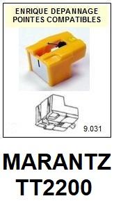 MARANTZ TT2200  <br>Pointe diamant sphérique pour tourne-disques (stylus)<SMALL> 2015-11</SMALL>