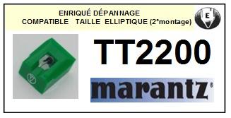 MARANTZ TT2200 (2° montage) <br>pointe elliptique pour tourne-disques (stylus)<small> 2015-12</small>