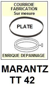 MARANTZ TT42 <br>courroie pour tourne-disques (<b>flat belt</b>)<small> 2016-01</small>