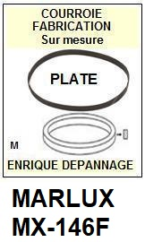 MARLUX MX146F MX-146F <br>Courroie pour Tourne-disques (flat belt)<small> 2016-01</small>