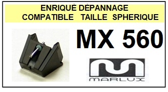 MARLUX<br> MX560 MX-560 Pointe (stylus) sphérique pour tourne-disques<small> 2015-09</small>