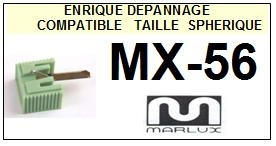 MARLUX<br> MX56 MX-56 Pointe stylus Diamant sphérique<br><small>a 2014-07</small>