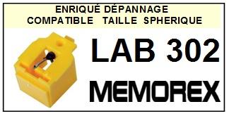 MEMOREX LAB302 LAB-302 <br>Pointe diamant sphérique pour tourne-disques (stylus)<SMALL> 2016-01</SMALL>