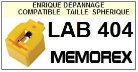 MEMOREX<br> LAB404 LAB-404 Pointe (stylus) sphérique pour tourne-disques<small> 2015-09</small>