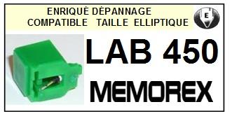 MEMOREX LAB450 LAB-450 <bR>Pointe diamant elliptique pour tourne-disques (stylus)<SMALL> 2015-12</small>
