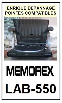 MEMOREX-LAB550 LAB-550-POINTES-DE-LECTURE-DIAMANTS-SAPHIRS-COMPATIBLES