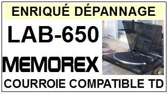 MEMOREX-LAB650 LAB-650-COURROIES-ET-KITS-COURROIES-COMPATIBLES