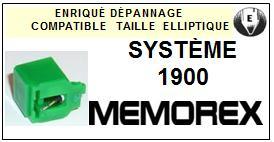 MEMOREX-SYSTÈME 1900-POINTES-DE-LECTURE-DIAMANTS-SAPHIRS-COMPATIBLES