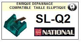 NATIONAL<br> SLQ2 SL-Q2 Pointe (stylus) elliptique pour tourne-disques <BR><small>se 2015-07</small>