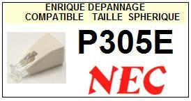 NEC P305E <br>Pointe sphérique pour tourne-disques (stylus)<small> 2015-11</small>