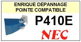 NEC P410E <br>Pointe sphérique pour tourne-disques (<B>sphérical stylus</b>)<SMALL> 2016-01</SMALL>
