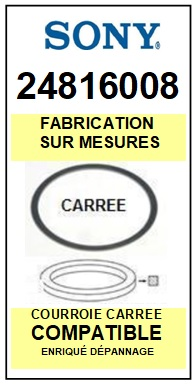 ONKYO 24816008 <BR>Courroie (partlist origin square belt) référence onkyo<small> 2015-10</small>