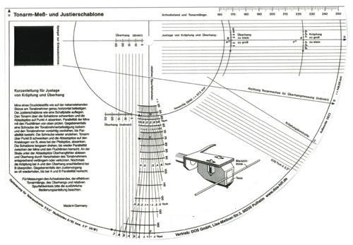 Outil de réglage  pour bras et cellule tournedisque