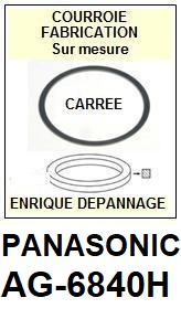 PANASONIC AG6840H AG-6840H <br>Courroie pour Magnétoscope (square belt)<small> 2017 NOVEMBRE</small>