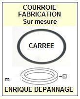 PANASONIC AR90 mécanique AR90IV <br>Courroie pour baladeur walkman k7 (<B>square belt</B>)<small> 2016-06</small>