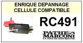 PATHE MARCONI platine  RC491    Cellule Compatible saphir sphérique