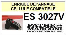 PATHE MARCONI platine ES3027V  Cellule diamant sphérique <BR><SMALL>s-cel 2014-05</small>