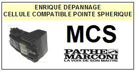 PATHE MARCONI MCS  <BR>Cellule diamant Sphérique (<B>cartridge</B>)<small> 2017-01</small>