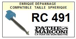 PATHE MARCONI<br> RC491  Pointe (stylus) sphérique pour tourne-disques <BR><small>s+cell 2015-08</small>
