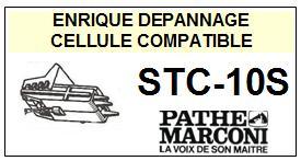 PATHE MARCONI<br> STC10S STC-10S Cellule avec diamant Sphérique <BR><small>s-cel 2015-03</small>