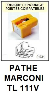 PATHE MARCONI<br> TL111V  Pointe (stylus) elliptique pour tourne-disques <BR><small>sce 2015-08</small>