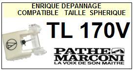 PATHE MARCONI<br> TL170V  Pointe (stylus) sphérique pour tourne-disques <BR><small>se 2015-08</small>
