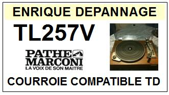 pathe marconi tl257v courroie compatible tourne disques 14 5 euros. Black Bedroom Furniture Sets. Home Design Ideas