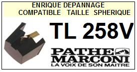 PATHE MARCONI<br> TL258V Pointe (stylus) diamant sphérique<small> 2015-10</small>