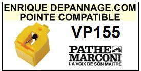 PATHE MARCONI<br> VP155  Pointe (stylus) sphérique pour tourne-disques<SMALL> 2015-10</SMALL>