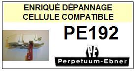 PERPETUUM EBNER PE192  Cellule avec diamant réversible st/st <BR><small>s-cel(st/st/78tr) 2014-05</small>