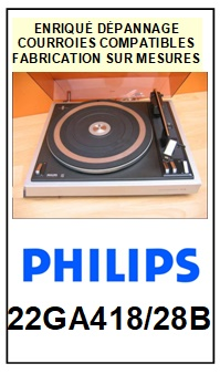 PHILIPS-22GA418/28B-COURROIES-ET-KITS-COURROIES-COMPATIBLES