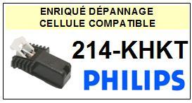 PHILIPS 214KHKT 214-KHKT Cellule avec diamant Sphérique <small> 2013-07</small>